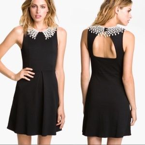 Euc Free People lace collar skater dress